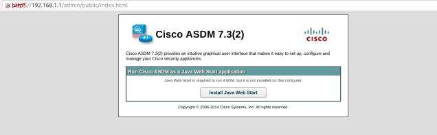 How to run Cisco ASDM as a Java Web Start application