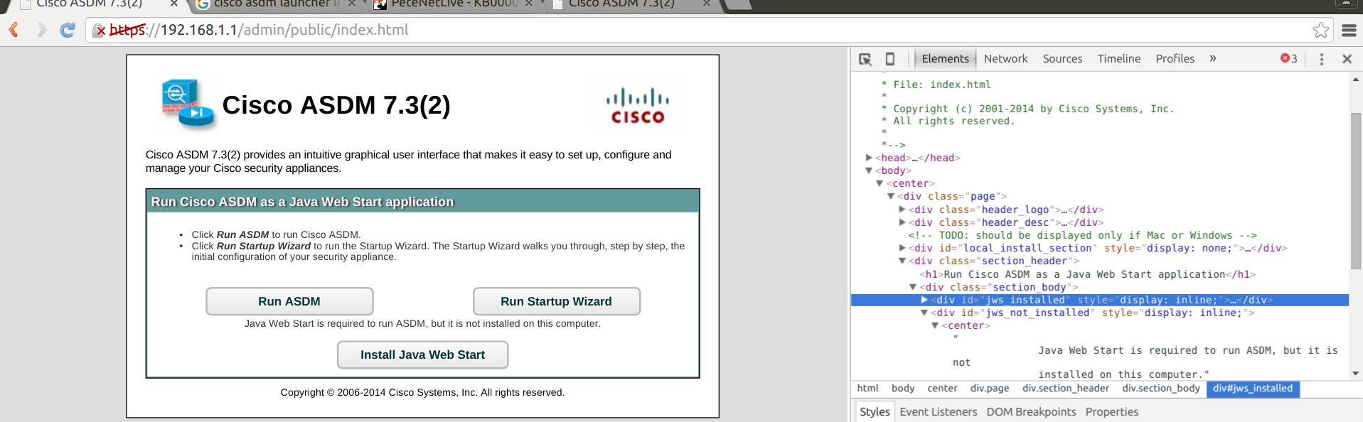 How to run Cisco ASDM as a Java Web Start application – Adventures
